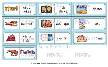 Early Finishers Activity | Dominoes: Food - Fish