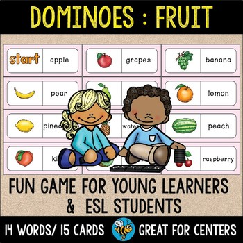 Early Finishers Activity | Dominoes: Fruit