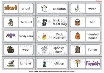 Early Finishers Activity | Dominoes: Halloween