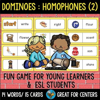 Early Finishers Activity | Dominoes: Homophones set 2