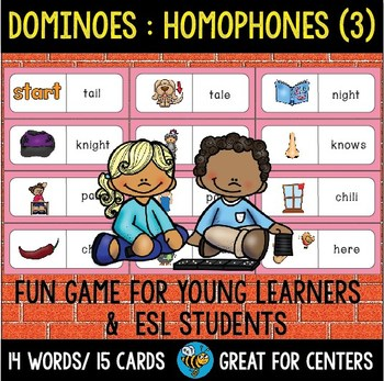 Early Finishers Activity | Dominoes: Homophones set 3