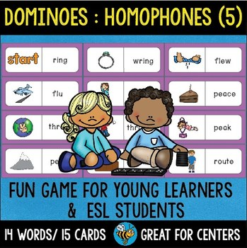 Early Finishers Activity | Dominoes: Homophones set 5