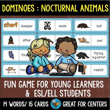 Early Finishers Activity | Dominoes: Nocturnal Animals