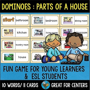 Early Finishers Activity | Dominoes: Parts of a House