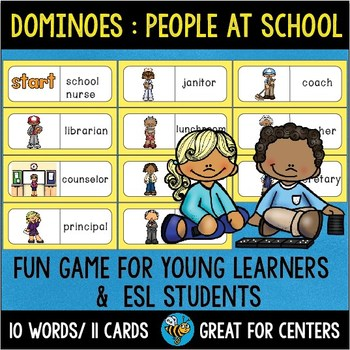 Early Finishers Activity | Dominoes: People at School