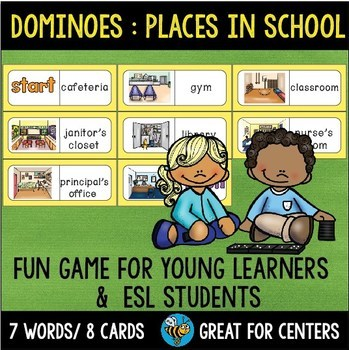 Early Finishers Activity | Dominoes: Places in School