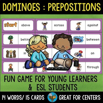 Early Finishers Activity | Dominoes: Prepositions