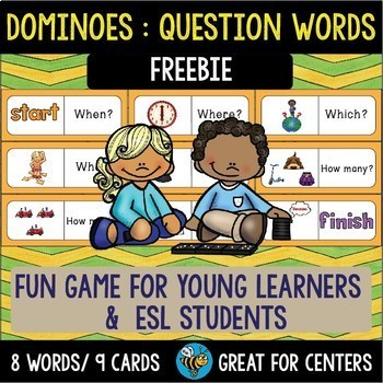 Early Finishers Activity | Dominoes: Question Words | Freebie