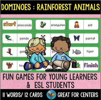 Early Finishers Activity | Dominoes: Rainforest Animals