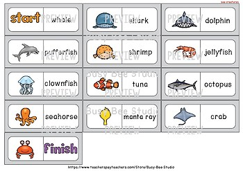 Early Finishers Activity | Dominoes: Sea Creatures