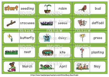 Early Finishers Activity | Dominoes: Spring Words