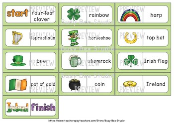 Early Finishers Activity | Dominoes: St. Patrick's Day