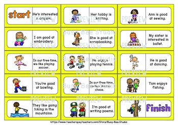 Early Finishers Activity | Dominoes: Talking about your Free Time and Hobbies