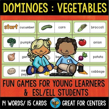 Early Finishers Activity   Dominoes: Vegetables