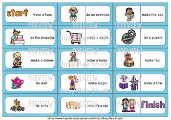 Early Finishers Activity | Dominoes for ESL/ELL Kids: Make or Do (set 1)