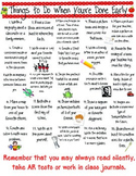 Early Finishers Activity Sheet