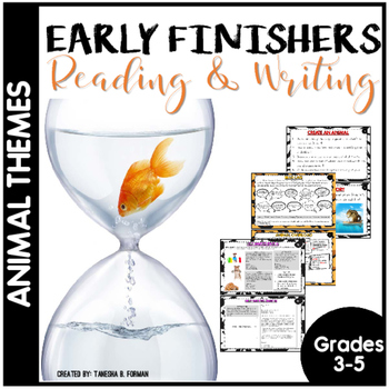 Early Finishers - Animal Theme