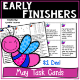 Early Finishers Activities | Early Finishers Task Cards | May