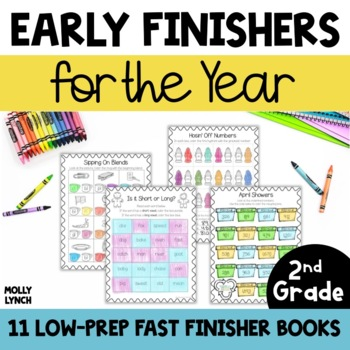 Early Finishers Books for the YEAR! {2nd Grade Edition}