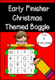 Early Finishers Christmas Themed Boggle