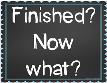 Early Finishers I'm Done...Now What? Classroom Management Chalk (Editable)