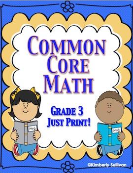 Back to School Review Common Core No Prep Math Printables Grade 3