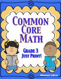 Fall Review  Common Core No Prep Math Printables Grade 3