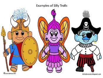 Early Finishers - Create a Silly Troll - Elementary Art