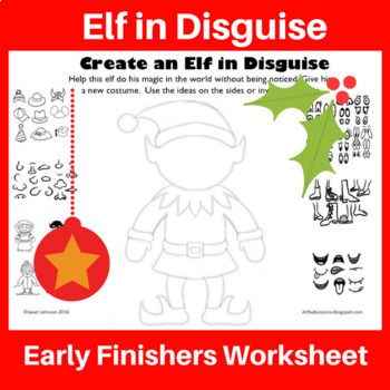 Early Finishers Art Activity - Create an Elf in Disguise