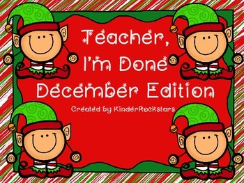 Early Finishers December Edition
