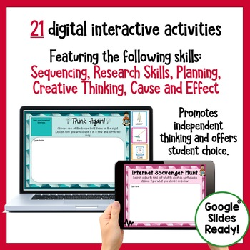 Early Finishers Digital Task Cards Paperless Google Drive® Resource