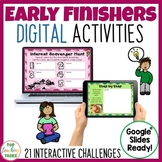 Early Finishers Digital Task Cards Paperless Google Drive®
