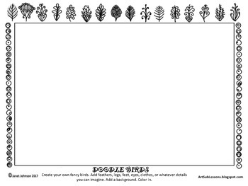Early Finishers - Doodle Birds