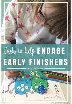 Early Finishers FREEBIE - meaningful extra tasks!
