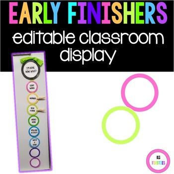 Editable Early Finishers I'm done, Now what?