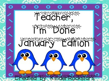 Early Finishers January Edition