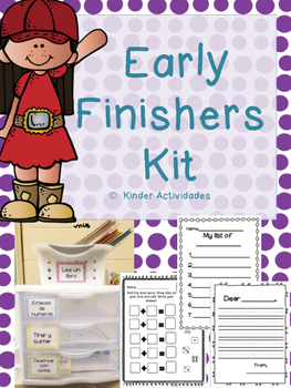 Primary Early Finishers Kit