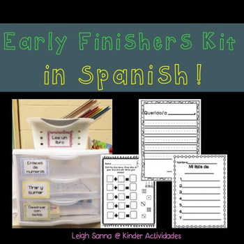 Primary Early Finishers Kit in Spanish
