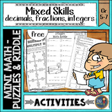 Early Finishers Math Activities Puzzles and Riddle