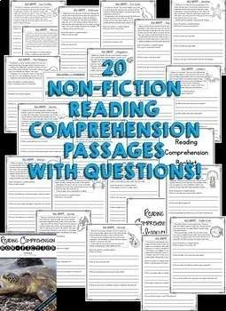 2nd Grade Reading Comprehension Passages & 2nd Grade Nonfiction Reading Passages