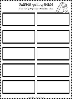 Editable Spelling Worksheets and Spelling Activities (FOR ANY 10 WORD LIST)