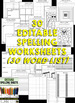Editable Spelling Worksheets and Spelling Activities (FOR