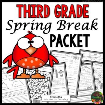 Spring Break: Third Grade Spring Break Packet