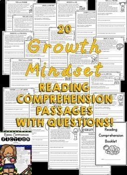 Growth Mindset Reading Comprehension Passages (Growth Mindset Activities)