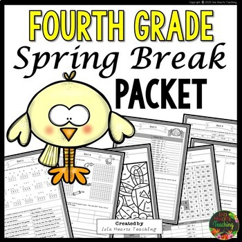 Spring Break: Fourth Grade Spring Break Packet