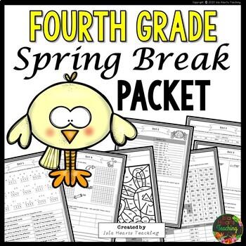 Spring Break: Fourth Grade Spring Break Packet