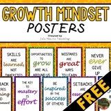 FREE Growth Mindset Posters for the Classroom or Bulletin Board