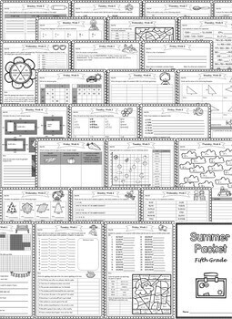 Fifth Grade Summer Packet (Fifth Grade Summer Review Homework)