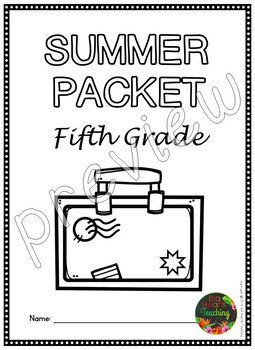 Fifth Grade Summer Packet Fifth Grade Summer Review