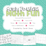 Early Finishers Math Fun